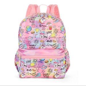 Handbags - Pink Holographic science girl backpack school !